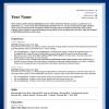 one column resume template